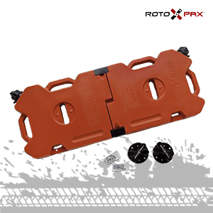 rotopax red gasoline container with mounting set