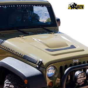 aev heat reduction hood for jeep wrangler jk