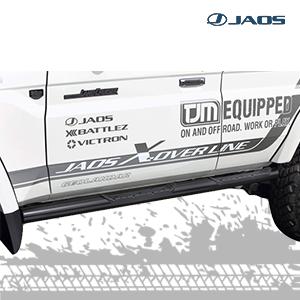 Jaos Black Side Step for Land Cruiser 76