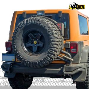 aev rear bumper & tire carrier for jeep wrangler jk